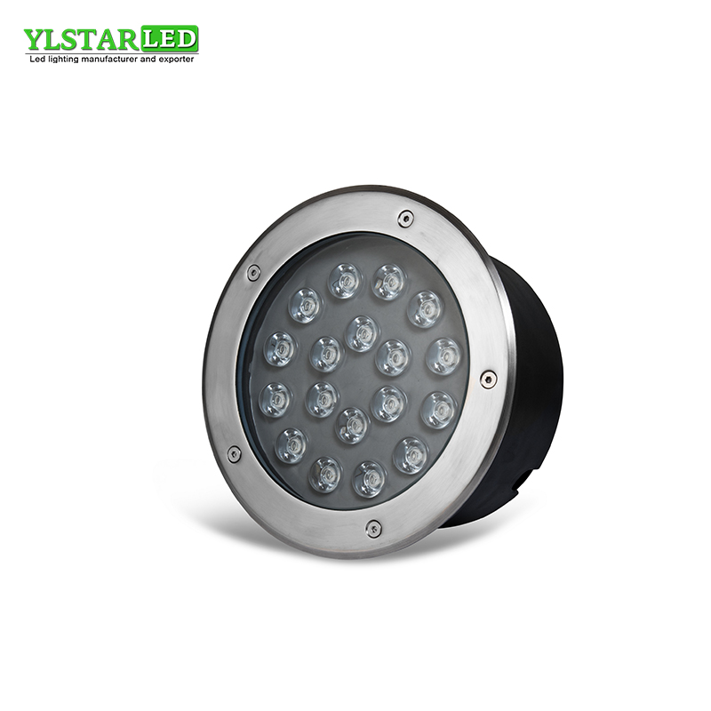 все цены на YLSTAR free shipping 18W AC85-265V Waterproof IP67 Outdoor Underground Light Garden Buried Yard Landscape Inground Lighting онлайн