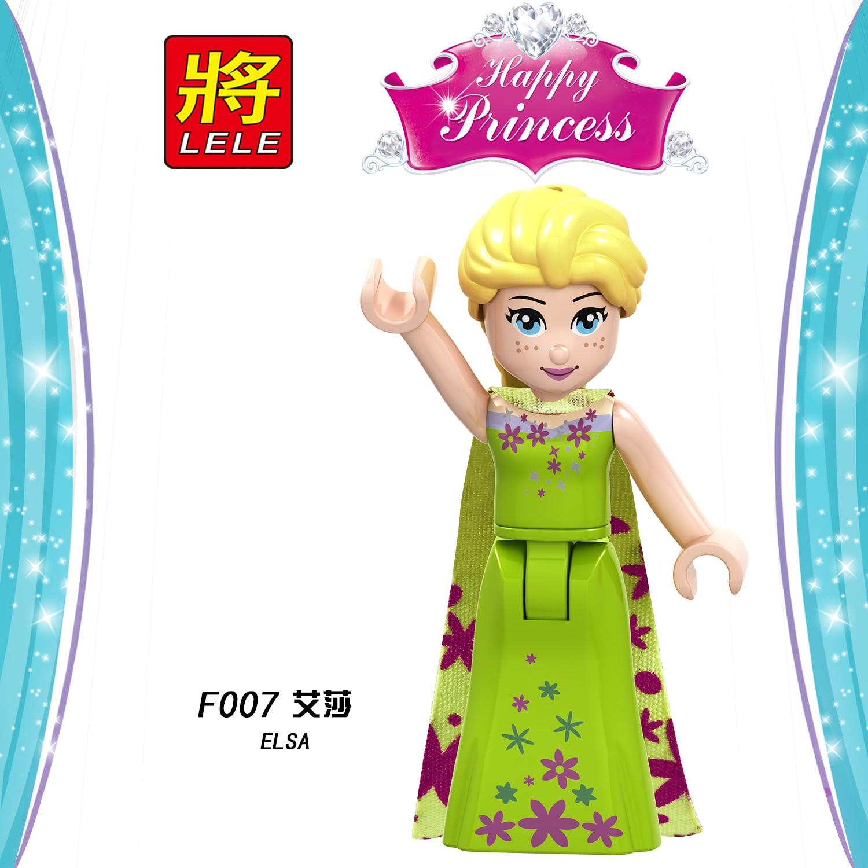 Model Building Blocks Aggressive Legoings Friends For Girls Elsa Figures Queen Princess Elves Cartoon Movies Heroes Building Blocks Toys Legoing Kits Bricks F007