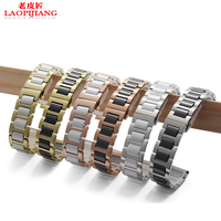 Ceramic Bracelet In Stainless Steel Watchband Watch Strap Womens Mens Wristwatches Band14 16 18 20 22mm