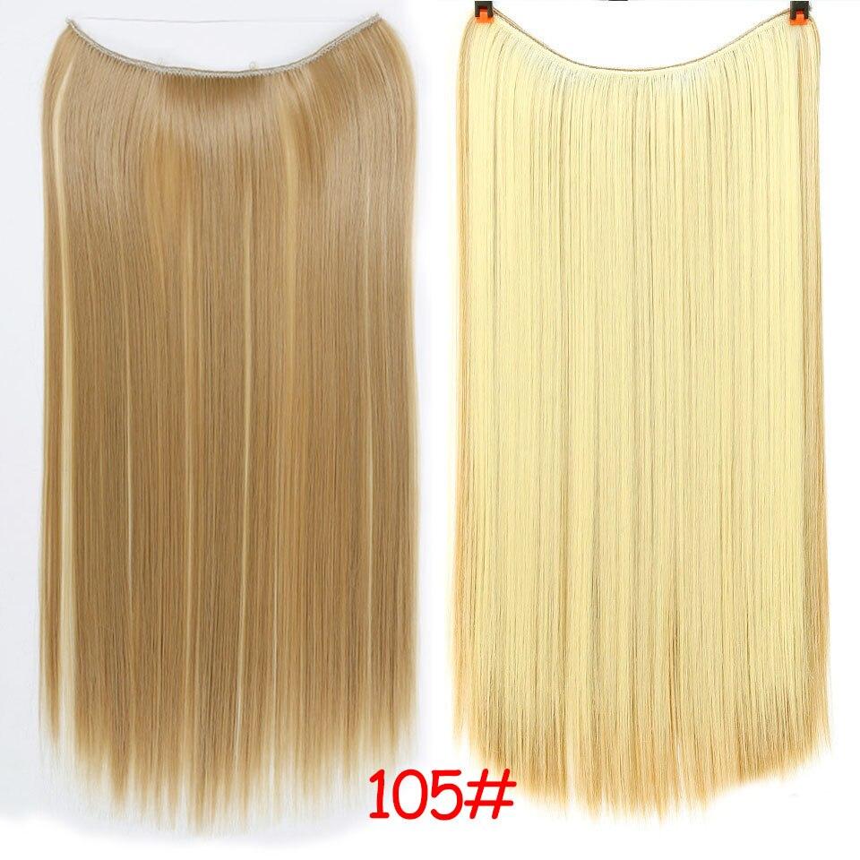"""SHANGKE 2"""" флип-на проволоке в синтетическом скрытом невидимом не клип в головном повязке прямые высокотемпературные волокна для наращивания волос - Цвет: #10"""