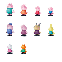 Peppa pig 10/PCS toy Action Toy Figures anime figure baby assembled doll children boys and girls gift toys