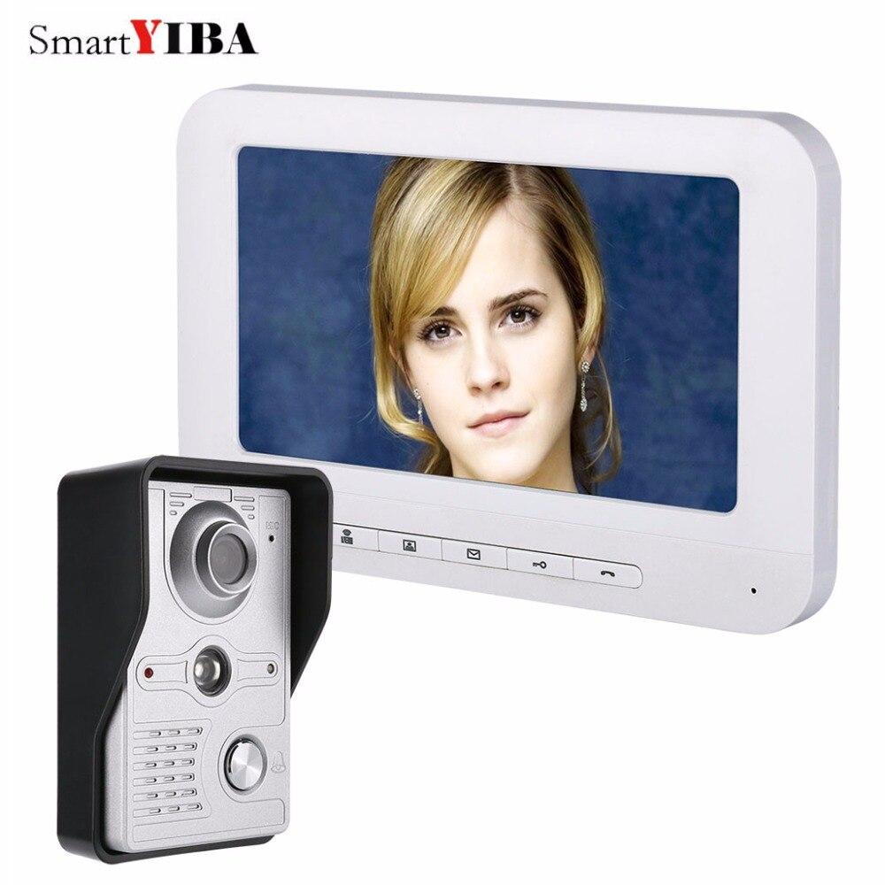 SmartYIBA 7 Inch Doorbell Ring Button Video Door Phone Intercom Rainproof Video Call With Camera IR Night Vision For Door Access