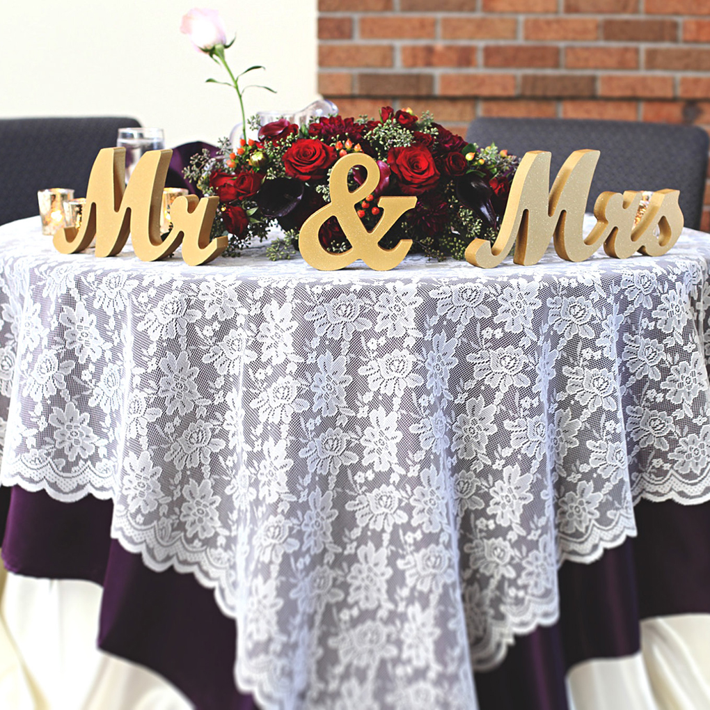 Golden/Silver Wooden Letters Mr/Mrs Wedding Photo Props Tools Gold Silver Color Luxurious Wedding Decor ...