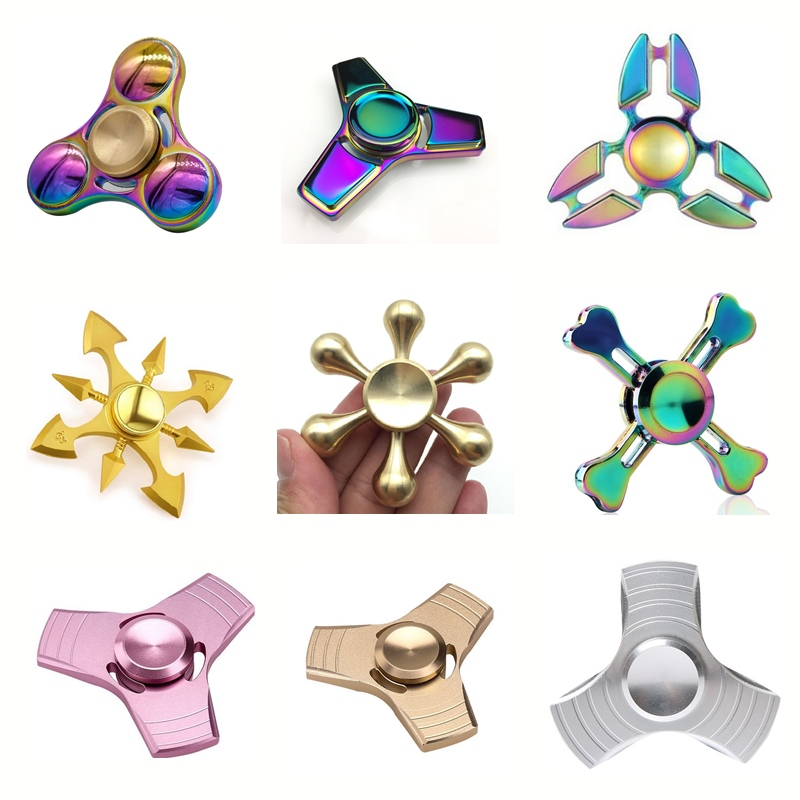 Fidget Hand Fidget Spiner Metal Gyro Hand Spinner Toy Fidget Spinner Rainbow Toys Christmas Gift Kids Adults Finger Spiner Toys