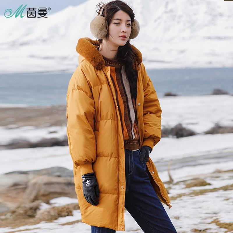 INMAN Women Winter  Fashion  Solid Color Eiderdown Coat