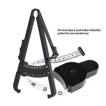 Черный цвет 70 мм Skinfold Монитор Жира тела с измерительной таблицей суппорт Тестер жира Skinfold измерительная лента инструмент для ухода за здоровьем