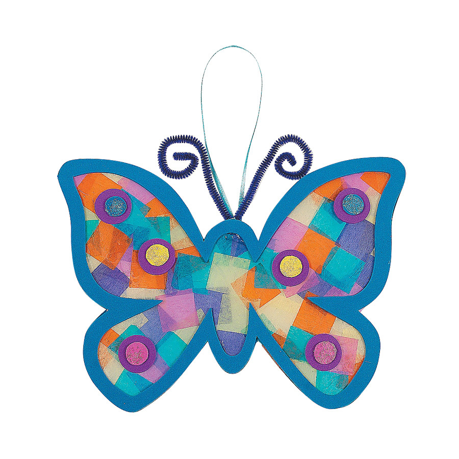 diy handmade eva adhesive double sided colored paper butterfly