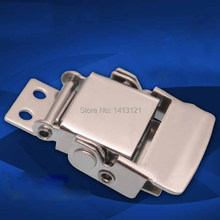 free shipping 304 Stainless steel buckle latch spring snap Insurance Electrical medical equipment box bag case hardware part