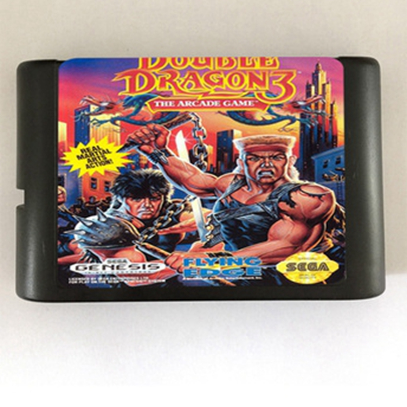 Double Dragon 3 Game Cartridge Newest 16 bit Game Card For Sega Mega Drive / Genesis System
