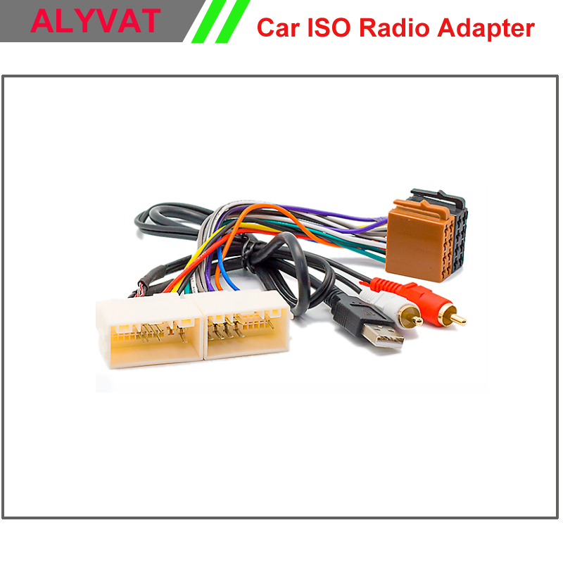 Car ISO Radio Adapter font b Connector b font For Hyundai iX 35 Solaris i 25 kia sportage wiring harness kia wiring diagram instructions kia sportage trailer wiring harness at gsmx.co
