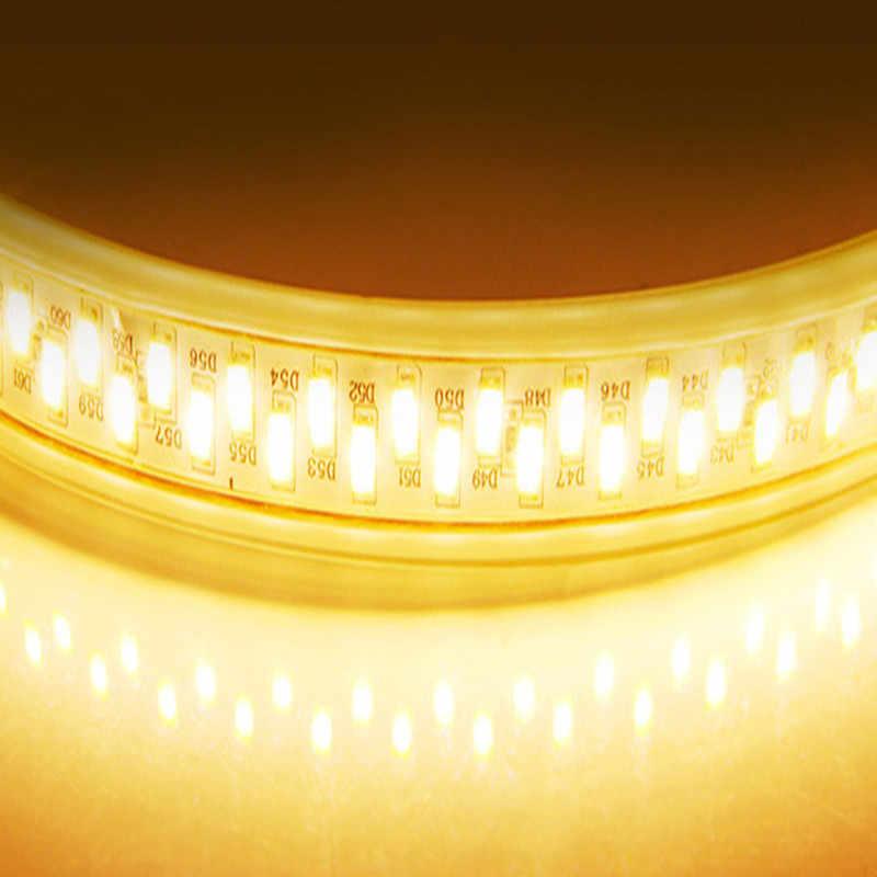 Taśma LED Light 180 leds/m ściemniacz 5730 220V taśma biały/ciepły biały wodoodporna kolacja jasność Home Decoration IP68 darmowa wysyłka