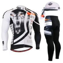 New Cycling Sets Tiger Bike jersey sets Cycling jersey Sets Cycling clothing long sleeve bike bicycle jersey + pants sets