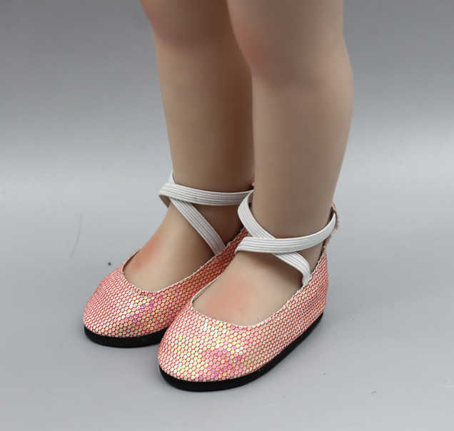1 Pair doll shoes doll sandals for 18 inch 43cm dolls acces Christmas present
