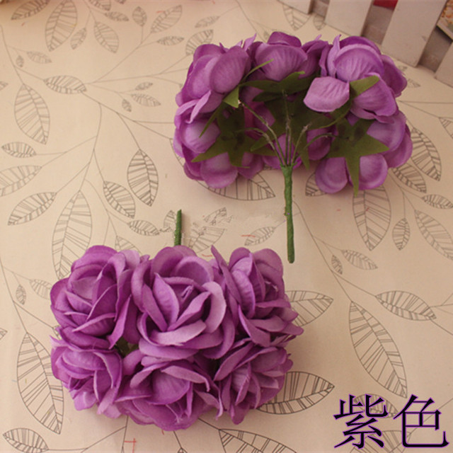 Artificial roses bouquet decorative flower,silk ribbon rose bouquets ...