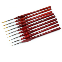 1 Piece Paint Brush Miniature Detail Fineliner Nail Art Drawing Brushes Wolf Half Paint Brushes For Acrylic Painting Supplies все цены
