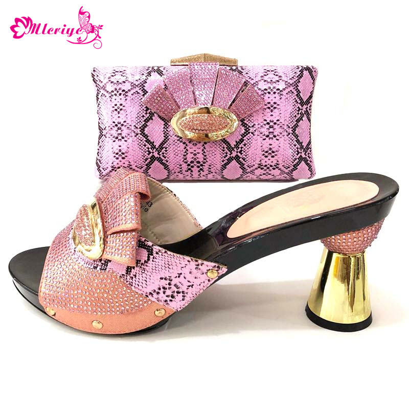Italian Ladies Shoes and Bag To Match Set Nigerian Shoes and Matching Bag African Wedding Shoes and Bag Set peach color italian gold color italian ladies shoes and bags to match set nigerian shoes and matching bag african wedding shoes and bag set