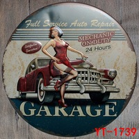 30X30CM Cars Garage Vintage Home Decor Tin Sign for Wall Decor Metal Sign Vintage Art Poster Retro Plaque\Plate