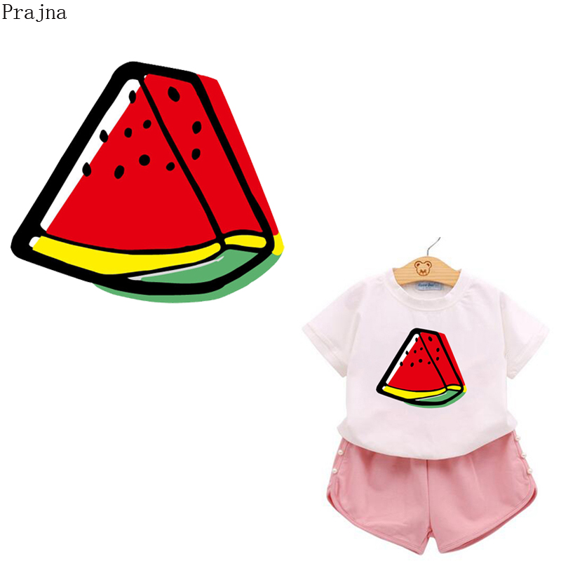 Prajna Fruit Watermelon Heat Transfer Vinyl Patches For Clothes T shirt Iron On Transfer PVC Patch Thermal Transfer Sticker DIY