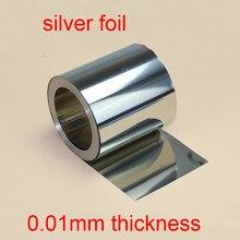 0,08mm dicke 99.9999% reinem silber folie silber blatt geschlagen silber papier wissenschaftliche forschung silber streifen test silber blatt
