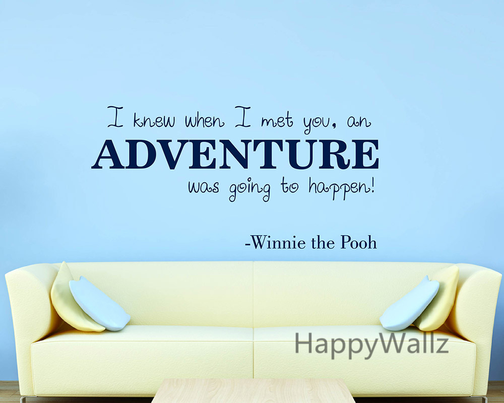 Wall Decals Quotes Winnie The Pooh Quote I Think We Dream Moon Stars Kids Boys Gir