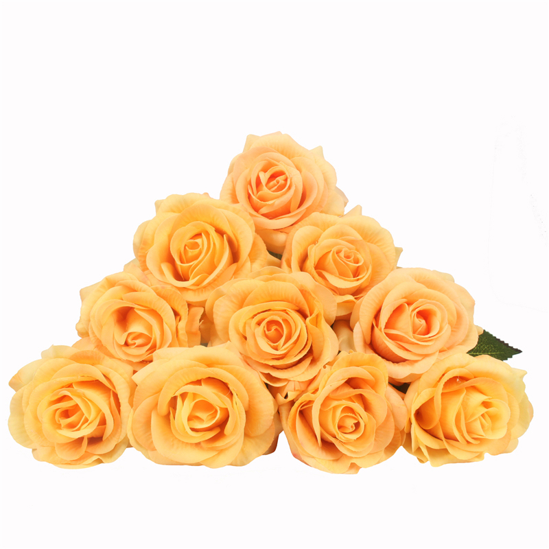 JAROWN Artificial Real Touch Hand Feel Rose Flowers For Valentine`s Day Preparation Wedding Decoration Home Decor (1)