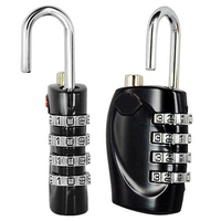 Wholesale10pcs*AUAU 2 X Multicolor 4 Dial Combination Padlock Luggage Travel Lock