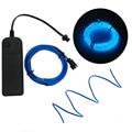 3 M luz de neón baile fiesta Decoración Luz neón lámpara LED Flexible EL cable cuerda tubo impermeable tira LED con controlador