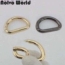 Новинка 3 цвета 33*19 мм пружинное открытое d-образное кольцо фурнитура для пряжки на ремень металлическое d-кольцо для сумок