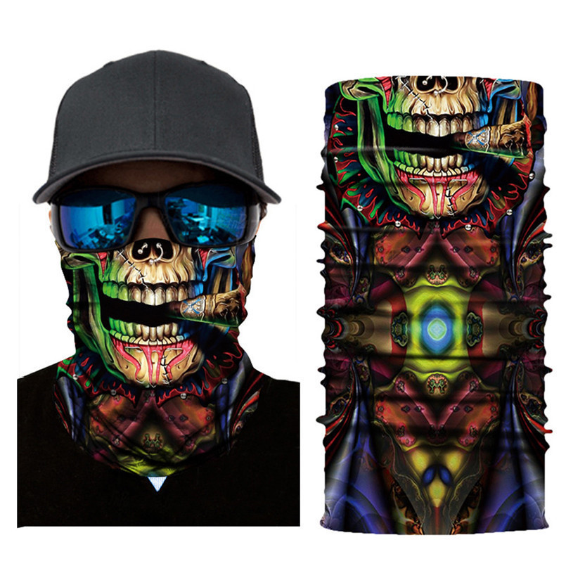 Skull Face Mask Scarf Ski Mask Ghost Balaclava Masks Cycling Head Scarf Neck Halloween Party Face Mask Wholesale 30ST02 (7)