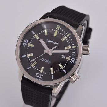 44.5mm corgeut luxury top brand reloj hombre 2018 Rubber Straps Japan Miyota 821A Mechanical clock Men Automatic Watch