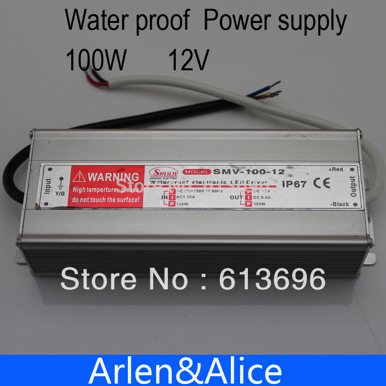 где купить 100W 12V Waterproof outdoor Single Output Switching power supply SMPS AC TO DC дешево
