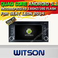 WITSON Android 5.1 CAR DVD GPS для SEAT LEON 2014 android АВТОМОБИЛЬ DVD автомобиль aduio плеер автомобиля стерео bluetooth радио построен в wi-fi