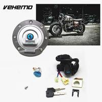 Vehemo Motosiklet Yakıt Gaz Cap Kontak Anahtarı Güç Kilidi Için Yamaha YZF R1 R6 Için