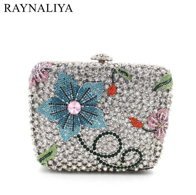 European And American Luxury Handbag Flap Crystal Womens Clutch Multi-color Mini Box Purse For Evening Party Smyzh-e0282 luxury crystal clutch handbag women evening bag wedding party purses banquet