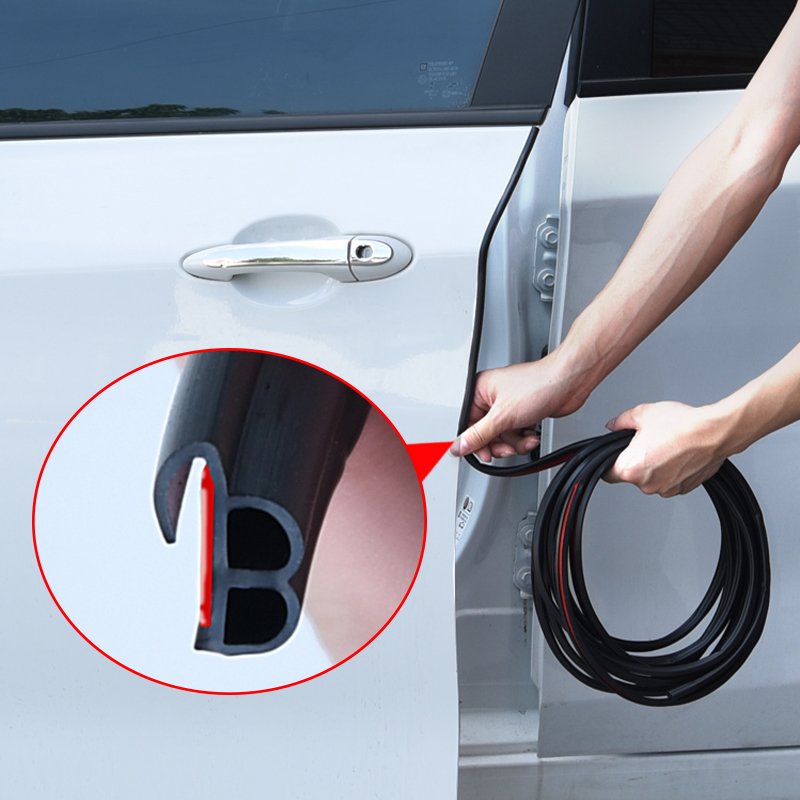 3M Self Adhesive Automotive Rubber Seal Strip For Car Window Door Engine Cover Car Door Seal Edge Trim Noise Insulation