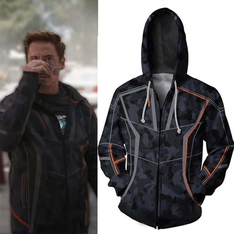 Avengers 3 Infinity War Iron Man Tony Stark men 3d print Hoodies Streetwear Casual Cospaly Sweatshirt