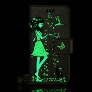 PU Ledertasche Für Samsung galaxy S3 S4 S5 S6 S7 S8 Rand Plus A5 A3 A7 J5 J7 2016 2017 Luminous Glow in The Dark Brieftasche Abdeckung