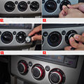3x RED Heater Air Condition Panel Control Swithch Knob Buttons Fit  for Focus 05-14