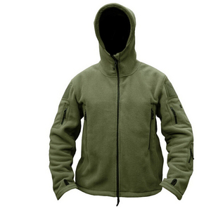 Image 2 - Military Man Fleece Tactical Softshell Jacket Polartec Thermal Polar Hooded Outerwear Coat Army Clothes