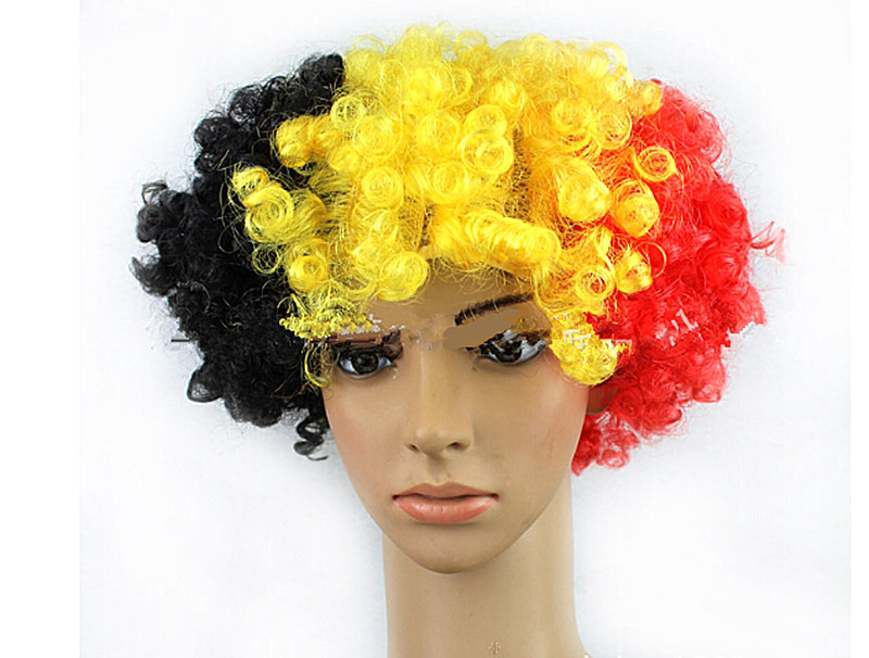 synthetic party wigs ,national flag wig(Belgium),halloween cosplay/bob wigs Free Shipping 5pcs/lot