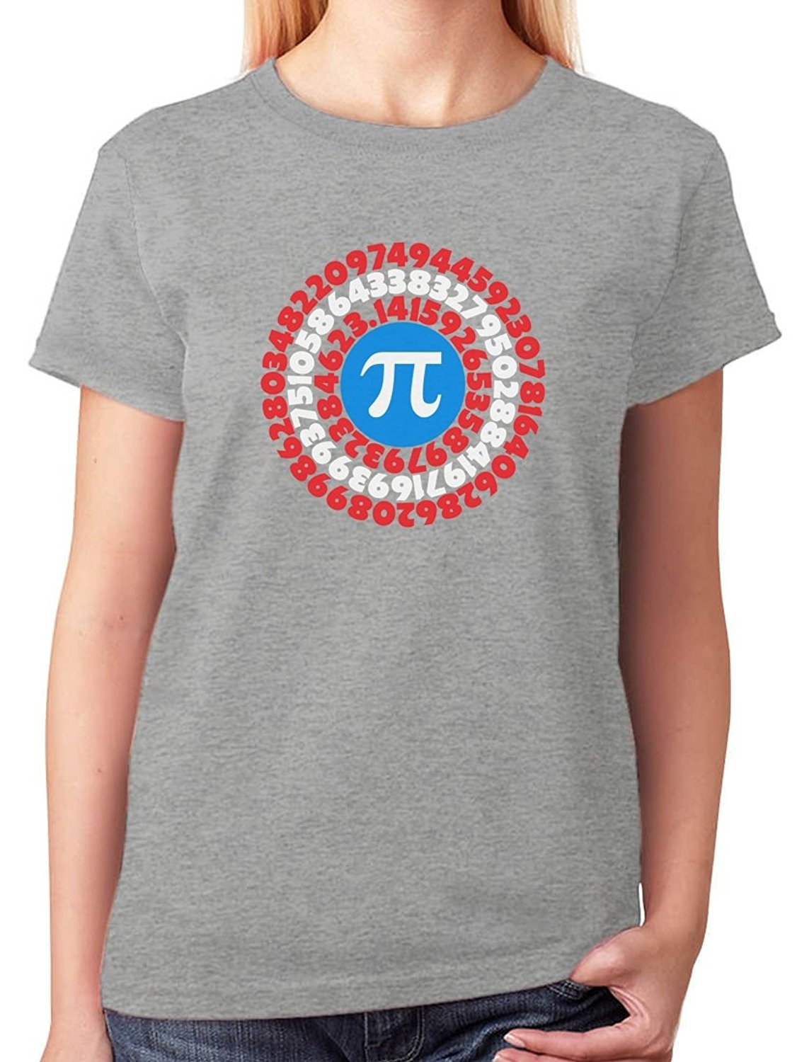 Personality WomenS Superhero - Captain Pi Gift For Math Geeks Pi Symbol Zomer O-Neck Short Sleeve T Shirts
