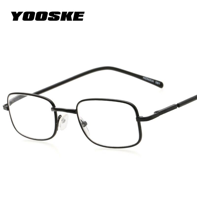 Angemessen Yooske Lesebrille Frauen Männer Voller Metall Rahmen Lesebrille 2,5 Harz Linsen Comfy Licht Brillen 1,0 1,5 2,0 2,5 3,0