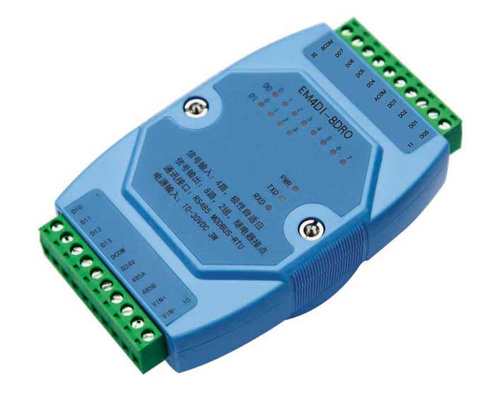 Switch quantity input and output digital isolation acquisition block relay output MODBUS RS485 i/0 huasin