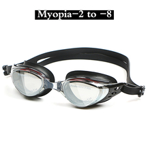 Adult Prescription Optical Myopia Swimming Goggles Swim Silicone Anti-fog Coated Water diopter Swimming Eyewear glasses mask