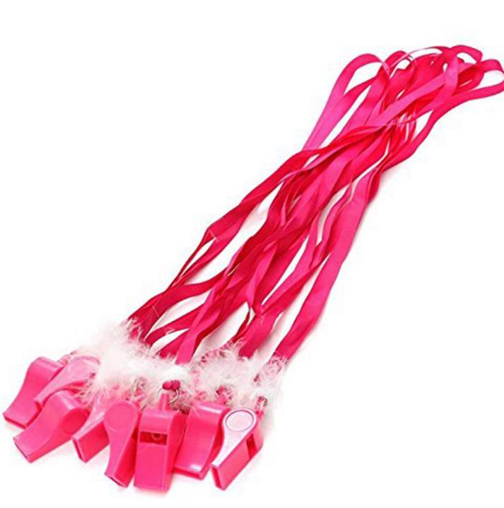 Розовый пушистый перо свисток дует весело свисток ожерелье девичник ночь вам аксессуар Стадия Забавный шутка Шумелка концерт развеселить