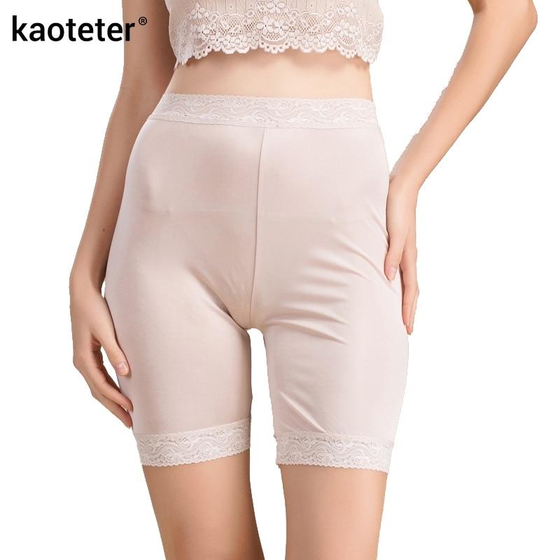Pantallona të shkurtra 100% të grave të mëndafshta Pantallona të shkurtra të grave Gratë me dantella Boyshort sexy femra në fund të pantallonave të gjera femra Knickers Vajzat e grave