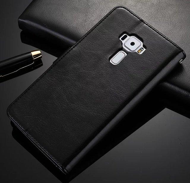 Vintage Premium Leather Wallet Card Holders Case Stand for Asus Zenfone 3 ZE552KL z012d ZE552 552 KL Z012DC Z012DB