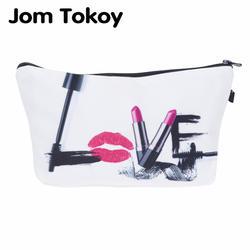 Jom Tokoy модный бренд Несессер для косметики теплообмена печати для женщин Путешествия Макияж сумка портативный косметичка kosmetyczka
