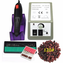Nail Art Tools Professional Electric Machine Manicure Pen Pedicure Kit+30pcs Drills Bit+100pcs Sanding Bands 120''