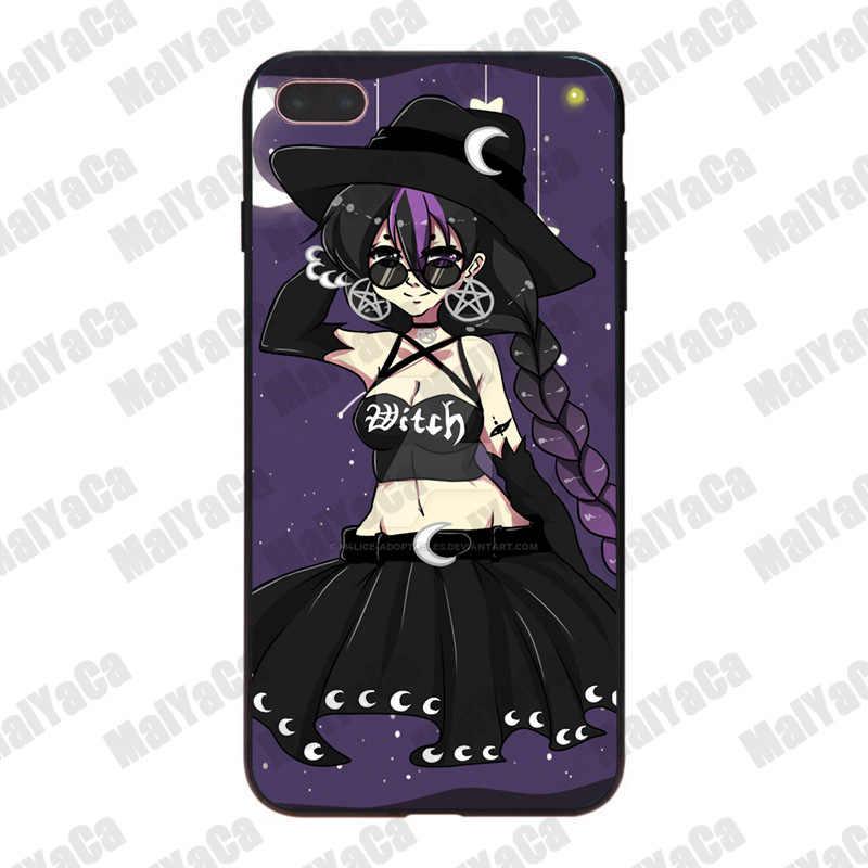 MaiYaCa Girly Pastello Strega Goth Offerta Speciale di Lusso cassa del telefono morbida per iPhone 8 7 6 6S Plus X XS XR XSMax 5 5S SE Coque Borsette
